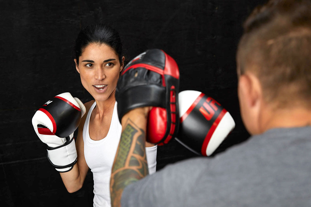 Member punching with coach