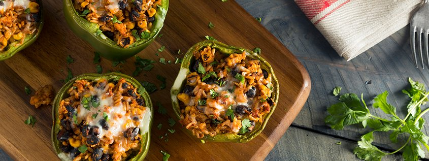 Add Color to Your Diet - Stuffed Bell Peppers Featured Image